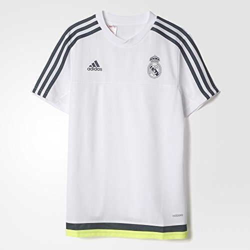 Youth Pinstripe Replica Jersey - Adidas Real Madrid CF Training Youth Jersey-WHITE (L)