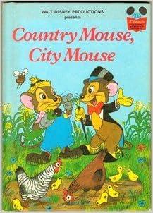 country mouse city mouse walt disney 9780394840260 books. Black Bedroom Furniture Sets. Home Design Ideas