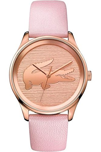 Lacoste Women's 'VICTORIA' Quartz Stainless Steel and Leather Casual Watch, Color:Pink (Model: 2000997)
