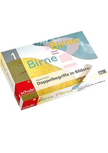 Kartenspiele zu Doppelbegriffen / Birne = Birne? - einfach: SCHUBI-Kartenspiele zu Doppelbegriffen in Bildern