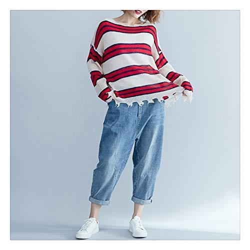 Red XL maglione selvaggio Autunno moda Allentato Plus confortevole Fertilizer maglione zWPCFRq
