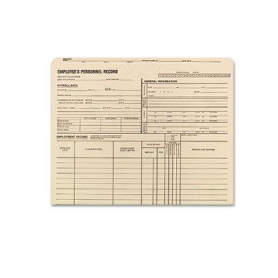 (Employee Record Jackets, 11 3/4 x 9 1/2, 11 Point Manila, 100/Box)