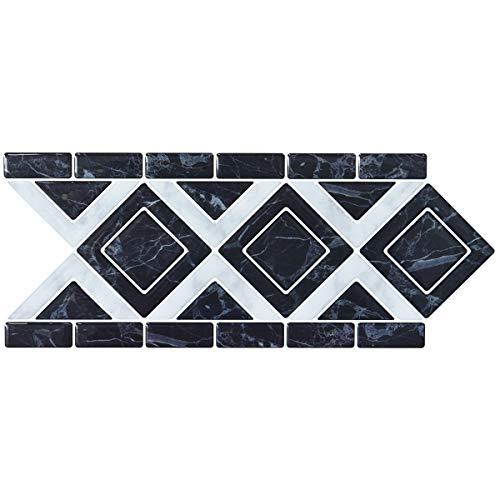 LONGKING Peel and Stick Backsplash Decortaive Tile Stickers Waist Line Retro Mosaic Wall Sticker Kitchen Cabinet Toilet Border, 12.4