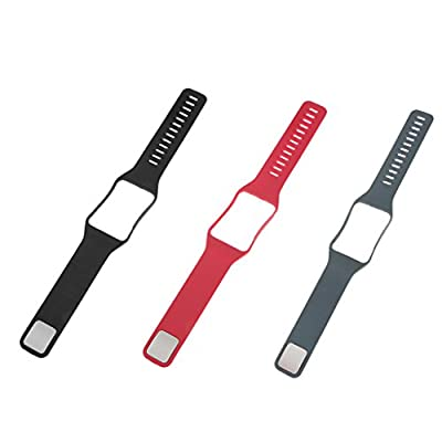 MagiDeal 3Pcs Silicone Gel Watchband Wrist Pouch Frame for Samsung Galaxy Gear S2 SM-R750 by MagiDeal