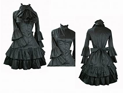 1fcbce165 ゴスロリィタ Lolita ロリータ服 衣装 洋服 COSMAMA LLTLZY0066 ブラック 長袖 ゴシック ゴスロリ プリンセス お嬢様  レディース 主婦