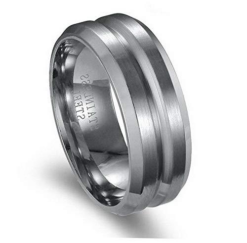Tomikko 8MM Men Women 316L Stainless Steel Titanium Wedding Engagement Band Ring Sz6-12   Model RNG - 12668   10