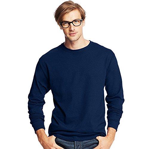 Hanes Mens Tagless ComfortSoft Long-Sleeve T-Shirt_Navy_S