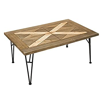 santiago pons table basse en fer forgbois