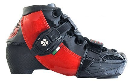 Luigino Kids Adjustable Inline Speed Skate Boot Red Size J13-2