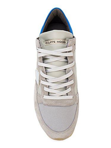 Philippe Model Sneaker Herre Grå Grå / Blå, Grå - Grå / Blå - Größe: 40 Eu