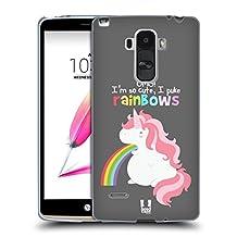 Head Case Designs Unicorn Rainbow Puke Soft Gel Case for LG G4 / H815 / H810