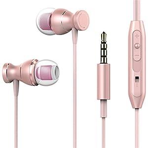 NeeKer In-ear Earphone Wired Magnetic Gaming Headset Stereo for Sony Xperia XA XA1 / Ultra Dual fone de ouvido Pink