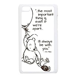 Winnie the Pooh Quote Phone Case for Ipod Touch 4,diy Winnie the Pooh Quote phone case