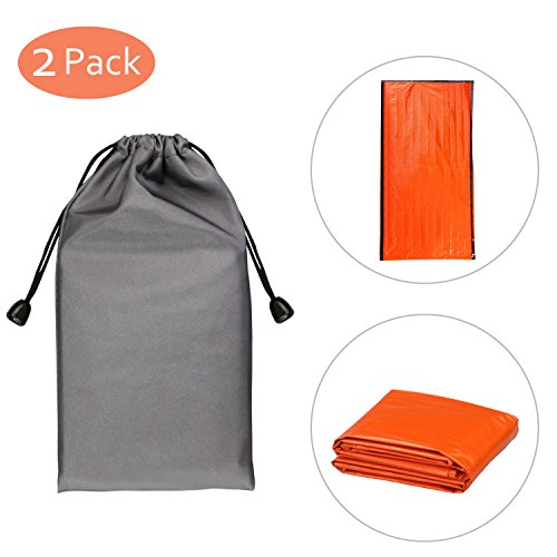 Philonext Emergency Survival Thermal Sleeping Bag - A Packable, Lightweight, Waterproof Breathable Sack Emergency Bag for Survival, Hiking, Camping, Auto, or Outdoor by Philonext