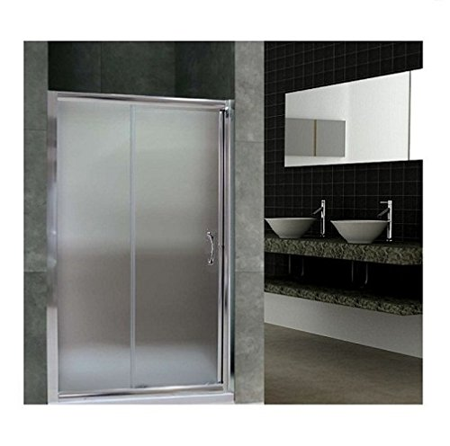 Porta doccia scorrevole nicchia cristallo 6mm opaco box doccia ELISIR (110cm (107/111cm)) MITEPEK