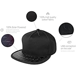 Summertime & the Living is Easy! ReVolt Solar USB Charger Snapback Hat for Cell Phones and USB Devices. Perfect for your busy summer on the go!