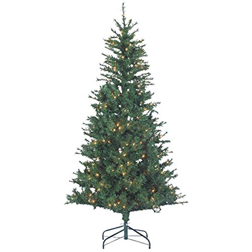 (Sterling Tree Company 6ft Pre-lit Premium Flocked Colorado Spruce Artificial Christmas Tree w/ 250 UL Certified Clear Lights, Stand, 899 Tips, 38in base - NEW for 2017)