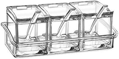 スパイスソルトシュガークルート、アクリル調味料、コンビネーションセット、家庭用、死角のないボックスで丸められ、お手入れが簡単、滑りにくいデザイン、底が安定していて滑りにくい、スパイスソルトシュガークルート