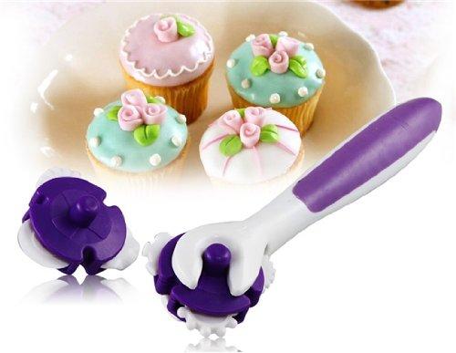Fondant Cake Decorating Sugar Craft Making Wheel Embosser Cutter Roller Tool Set