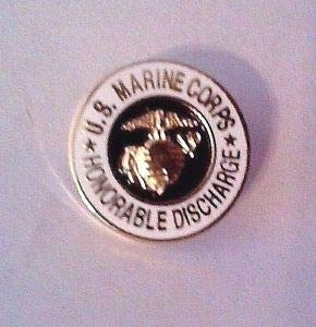 U.S. Marine Corps Honorable Discharge Lapel Pin 5/8
