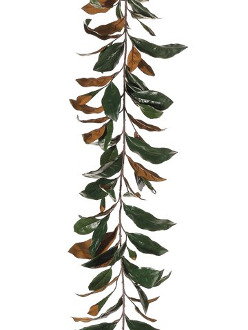 (6' Real Touch Magnolia Leaf Garland w/109 Leaves Green (Pack of 6))