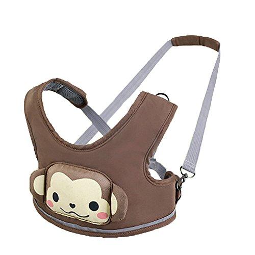 Zicac Baby Walk Lauflernhilfe mit Auffanggurt Lauflerngurt für Baby (kaffee)