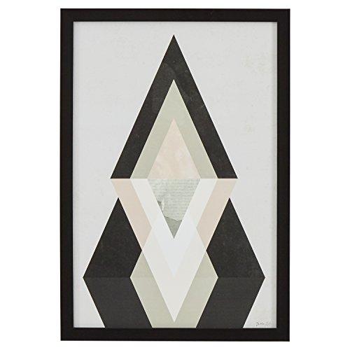 Rivet Modern Abstract Diamond Print II, Black Frame, 14
