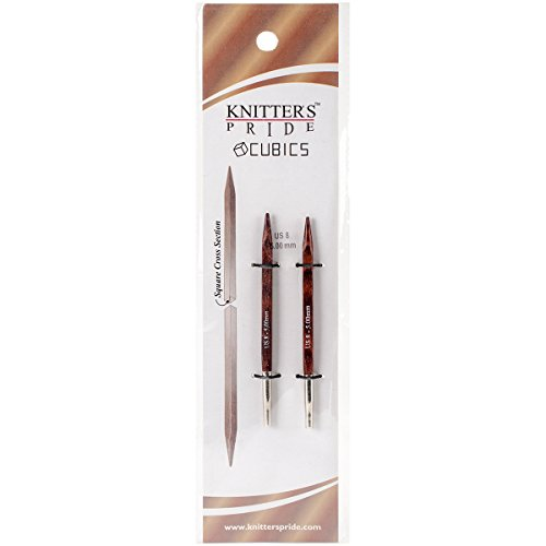 Knitter's Pride Cubics Interchangeable 3.5-inch (10cm) Short Tip Knitting Needles; Size US 8 (5.0mm) 300453 ()