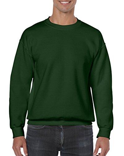 Green Fleece Crewneck Sweatshirt - Gildan Men's Heavy Blend Crewneck Sweatshirt - Medium - Forest Green