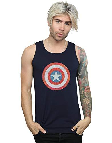Tank Bleu Sketched America Marin Shield Homme Marvel Captain Top Xq0SZC
