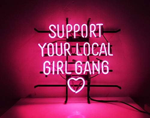 "GreeneerG""Support Your Local Girl Bang"" Heart Hot Slogan Neon Sign Club Light Pub Beer"