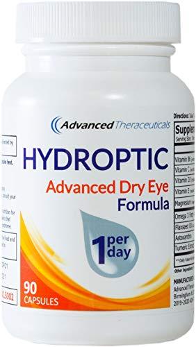 HYDROPTIC Dry Eye Formula (One-Per-Day) 90 Day Supply + FREE SHIPPING (Best Vitamins For Dry Eyes)