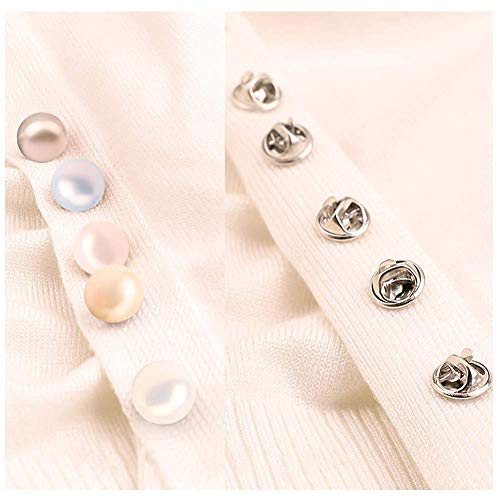 Joyci 10-Pack Women Shirt Brooch Lapel Pins Safety Novelty Cardigan Sweater  Decorate Buttons Buckle Tie Tacks Pin Back Clutch C (Dream Mix)