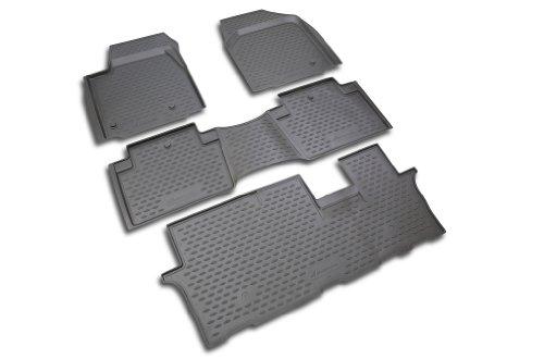 Novline 18.12.210 Honda Pilot Floor Mats - Floor Liners - 2009-2013 - Fits All Three Rows - Four (4) Piece Set - Black