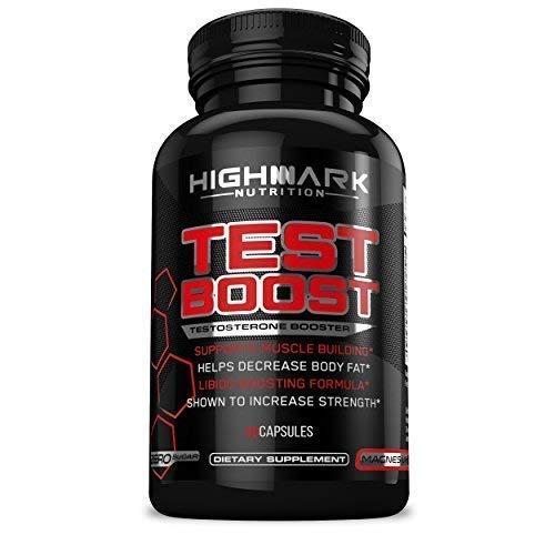Natural Testosterone Booster for Men by HighMark Nutrition: Libido Enhancer Dietary Supplement Pills for Increased Sex Drive, Muscle Building, Energy, Stamina, and Endurance
