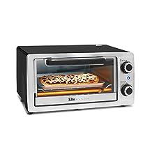 Elite Cuisine ETO-9323SS 4-Slice Stainless Steel Toaster Oven Broiler, Black