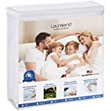 Lauraland Queen Size Mattress Protector, Hypoallergenic Breathable 100% Waterproof Mattress Cover, Vinyl Free Soft Cotton Terry Surface Protector- 10 Year Warranty, White