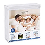 LAURALAND Mattress Protectors King Size, 100% Hypoallergenic Waterproof Mattress Protector, Premium Fitted Cotton Terry Cover- 10 Year Warranty, Vinyl Free