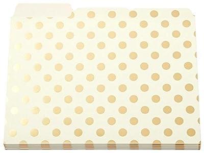Kate Spade Gold Foil Dots File Folders set of 6