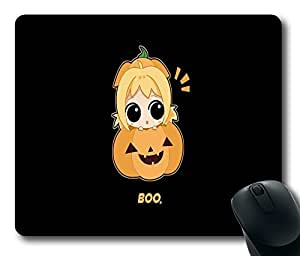 """Cute Halloween Imagen Custom Rectangle Mouse Pad Oblong Gaming Mousepad in 220mm*180mm*3mm (9""""*7"""") -1105095"""