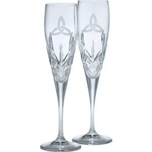Galway Irish Crystal Trinity Knot Flutes Gift Set by The Irish Store - Irish Gifts from Ireland