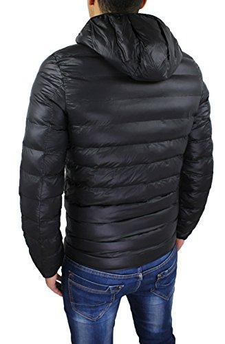 Casual Chaqueta capucha de Bomber Fit Negro Slim Bodycon invierno con Hombres Down 04q0FwAa