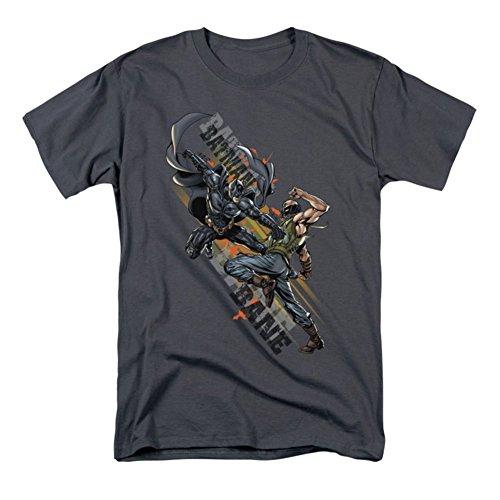 Dark Bat Attack Knight (Trevco Dark Knight Rises-Attack - Short Sleeve Adult 18-1 Tee - Charcoal, 3X)