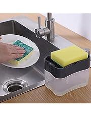 Dispenser Porta Detergente 2 Em 1 Com Esponja De Limpeza