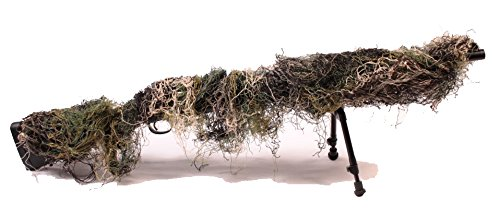 Fosco 469275 - woodland camouflage net sniper rifle cover airsoft...