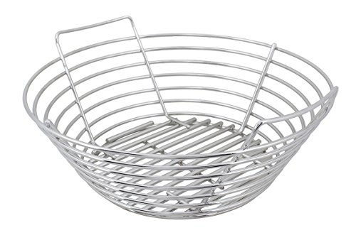 - Kick Ash Basket for The Big Green Egg (Stainless Steel, Large) Easily Clean and Light Charcoal in your Kamado Style Grill