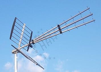 3H-UHF-47 - UHF YAGI/DVB-T exterior: Amazon.es: Electrónica