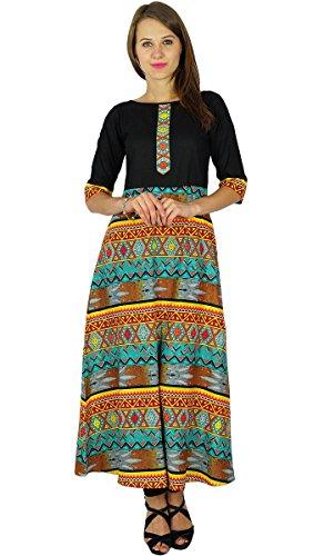 Phagun Bollywood diseñador indio Kurta Mujeres étnico Túnica Kurti vestido de algodón Multicolor
