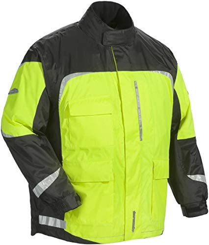 Tourmaster Sentinel 2.0 Rainsuit Jacket Hi-Viz/Black (Green, 5XL)