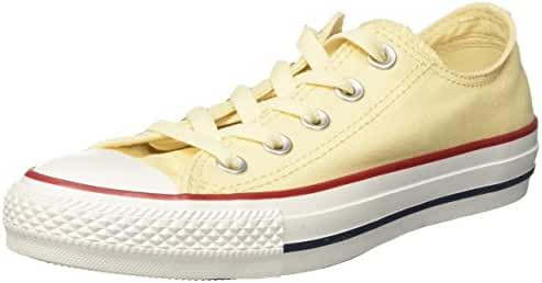 Converse Unisex Chuck Taylor All Star Low Top Unbleached White Sneakers - 6 B(M) US Women / 4 D(M) US Men